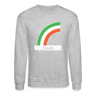 Long Sleeve Shirts ~ Men's Crewneck Sweatshirt ~ Naas Ireland Rainbow