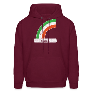 Hoodies ~ Men's Hooded Sweatshirt ~ Naas Ireland Rainbow