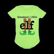 Baby & Toddler Shirts ~ Baby Short Sleeve One Piece ~ Cute Grandkid Christmas Elf Baby Tshirt