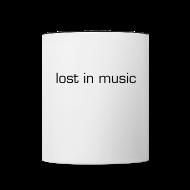 Bottles & Mugs ~ Contrast Coffee Mug ~ lost in music mug