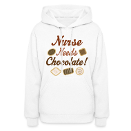 Hoodies ~ Women's Hooded Sweatshirt ~ Cute Nursing Gift Funny Nurse Hoodie
