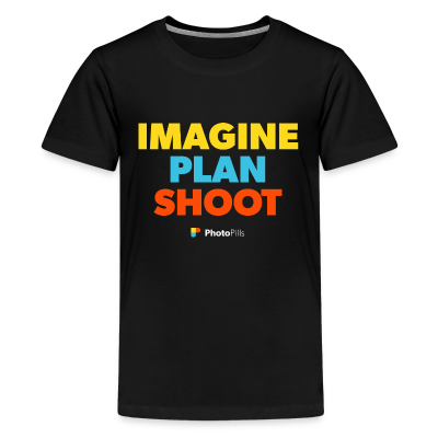 Imagine. Plan. Shoot. Kids T-Shirt