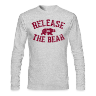 Long Sleeve Shirts ~ Men's Long Sleeve T-Shirt by American Apparel ~ Release The Bear long sleeve tee