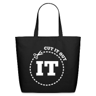 Bags & backpacks ~ Eco-Friendly Cotton Tote ~ Cut It Out ... Literally !