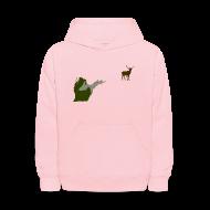 Sweatshirts ~ Kids' Hooded Sweatshirt ~ Best Friends Hunting