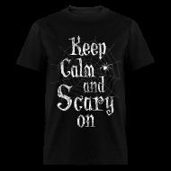 T-Shirts ~ Men's T-Shirt ~ Keep Calm Scary Halloween T-Shirts