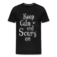T-Shirts ~ Men's Premium T-Shirt ~ Keep Calm Scary Halloween T-Shirts