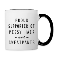 Bottles & Mugs ~ Contrast Coffee Mug ~ Proud Supporter