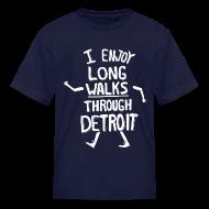 Kids' Shirts ~ Kids' T-Shirt ~ I Enjoy Long Walks Through Detroit