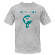 T-Shirts ~ Men's T-Shirt by American Apparel ~ WikiLeaks - Dripping Globe