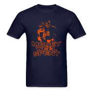 T-Shirts ~ Men's T-Shirt ~ Money Well Spent - Mens T-shirt - Dark Garment