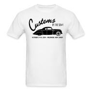 T-Shirts ~ Men's T-Shirt ~ Customs by the Sea - 2014 - White