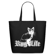 Bags & backpacks ~ Eco-Friendly Cotton Tote ~ Rug Life - Gangsta Cat