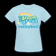Women's T-Shirts ~ Women's T-Shirt ~ Volleyball (I Love) Cute Funny Sports Women's Tshirt