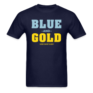 T-Shirts ~ Men's T-Shirt ~ Blue And Gold - Mens T-Shirt