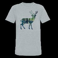 T-Shirts ~ Unisex Tri-Blend T-Shirt by American Apparel ~ Michigan Deer