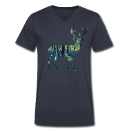 T-Shirts ~ Men's V-Neck T-Shirt by Canvas ~ Michigan Deer