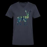 T-Shirts ~ Men's V-Neck T-Shirt by Canvas ~ Michigan Deer