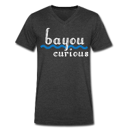 T-Shirts ~ Men's V-Neck T-Shirt by Canvas ~ Bayou Curious
