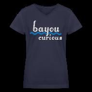 Women's T-Shirts ~ Women's V-Neck T-Shirt ~ Bayou Curious