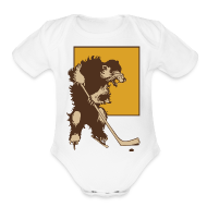 Baby & Toddler Shirts ~ Baby Short Sleeve One Piece ~ Vintage Boston Hockey
