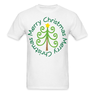 T-Shirts ~ Men's T-Shirt ~ Merry Christmas Tree Fun T-shirt