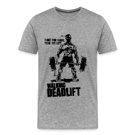 T-Shirts ~ Men's Premium T-Shirt ~ Zombie Walking Deadlift | Mens tee