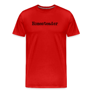 T-Shirts ~ Men's Premium T-Shirt ~ Homesteader - black text