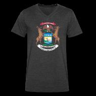 T-Shirts ~ Men's V-Neck T-Shirt by Canvas ~ Michigan Flag