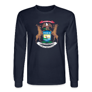 Long Sleeve Shirts ~ Men's Long Sleeve T-Shirt ~ Michigan Flag