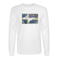 Long Sleeve Shirts ~ Men's Long Sleeve T-Shirt ~ UP Swedish Flag