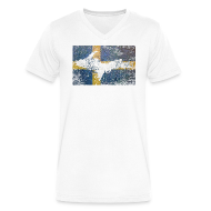 T-Shirts ~ Men's V-Neck T-Shirt by Canvas ~ UP Swedish Flag