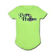 Baby & Toddler Shirts ~ Baby Short Sleeve One Piece ~ Port Huron