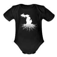 Baby & Toddler Shirts ~ Baby Short Sleeve One Piece ~ Michigan Roots