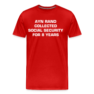 T-Shirts ~ Men's Premium T-Shirt ~ Ayn Rand Collected Social Security