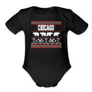 Baby & Toddler Shirts ~ Baby Short Sleeve One Piece ~ Chicago Ugly Sweater