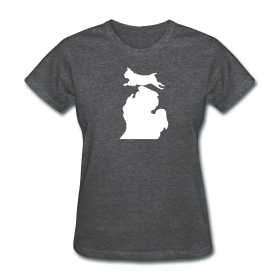 Pug Bark Michigan womens shirt