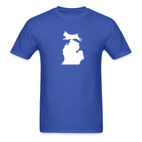 Pug Bark Michigan mens shirt