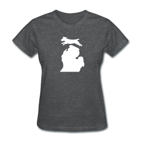 Jack Russell Bark Michigan shirt womens