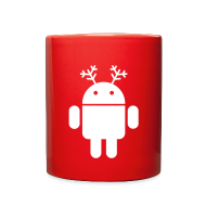 Accessories ~ Full Color Mug ~ merry christmas santa claus hat android