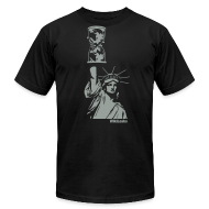 T-Shirts ~ Men's T-Shirt by American Apparel ~ WikiLeaks Statue of Liberty