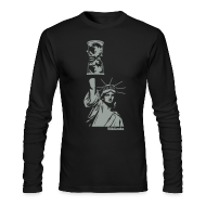 Long Sleeve Shirts ~ Men's Long Sleeve T-Shirt by American Apparel ~ WikiLeaks Statue of Liberty