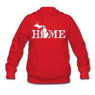 Hoodies ~ Women's Hooded Sweatshirt ~ HOME - Michigan