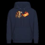 Hoodies ~ Men's Hooded Sweatshirt ~ Fire Breathing Lion