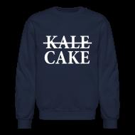 Long Sleeve Shirts ~ Men's Crewneck Sweatshirt ~ KALE, CAKE