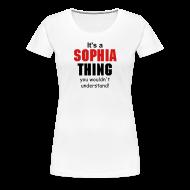 Women's T-Shirts ~ Women's Premium T-Shirt ~ It's a Sophia Thing
