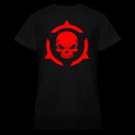 Women's T-Shirts ~ Women's V-Neck T-Shirt ~ Skull