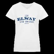 Women's T-Shirts ~ Women's V-Neck T-Shirt ~ In Elway We Trust - Ladies - V-Neck - NP
