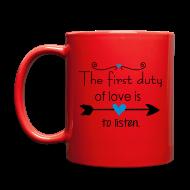 Mugs & Drinkware ~ Full Color Mug ~ Lovoe is to listen Full Color Mug