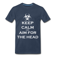Keep Calm And Aim For The Head - Navy